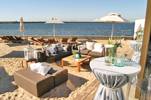 Chill out on one of Shimmy's Loungers. Photo by Shimmy Beach Club