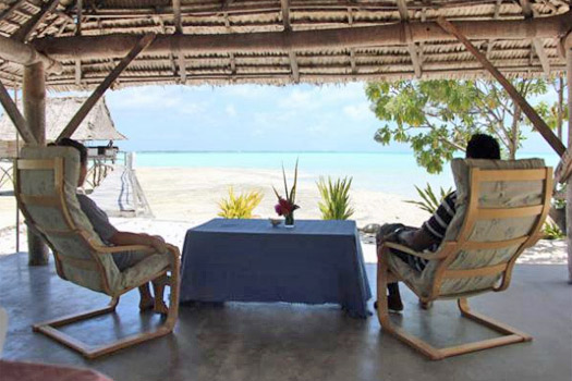 Relax at Tabon Te Keekee, Kiribati. Photo by tabontekeekee.com