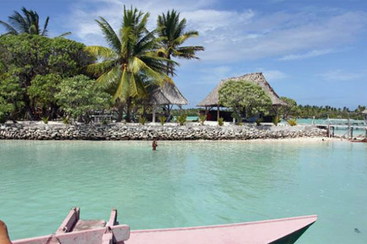 View of Tabon Te Keekee, Kiribati. Photo by tabontekeekee.com