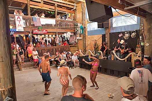 It's never dull at the Flora-Bama, Florida. Photo by the Flora-Bama