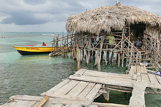 Catch a boat to Floyd's Pelican Bar, Jamaica. Photo by Alfred Moya