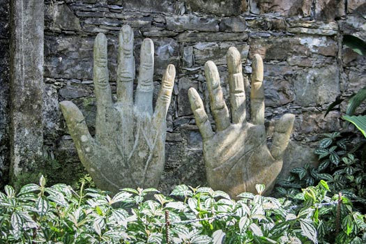 Hands of Plutarco, Las Pozas, Mexico. Photo by Rosa Menkman