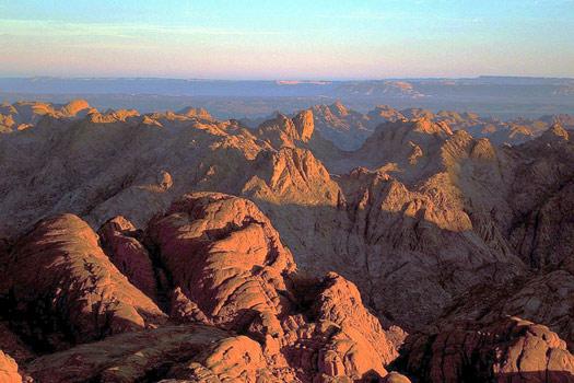 Sunrise on the Mount Sinai Peninsula, Egypt