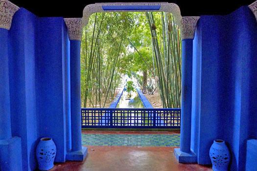Majorelle Blue in the Jardin Majorelle, Marrakech, Morocco. Photo by Ken Feisel