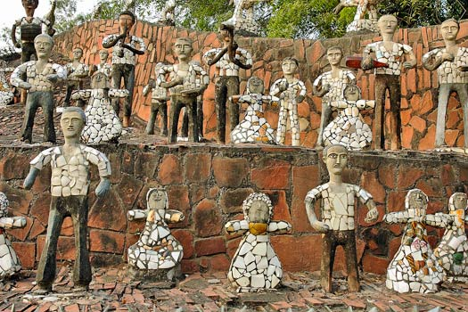 Ceramic and waste statues. Rock Garden of Chandigarh, India. Photo by Giridhar Appaji Nag Y