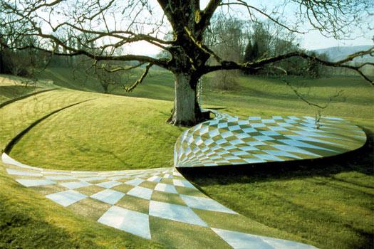 The Garden of Cosmic Speculation, Scotland. Photo by Scotland's Gardens