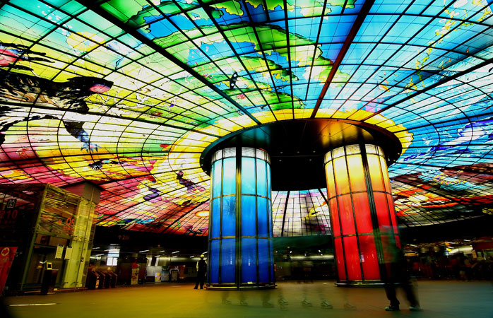 Formosa Boulevard Station, Kaohsiung, Taiwan. Photo: small_0323