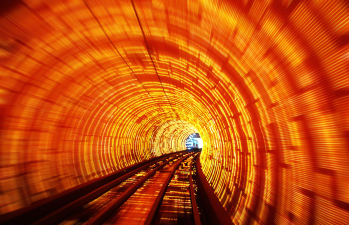 Bund Sightseeing Tunnel, Shanghai, China. Photo: trioptikmal