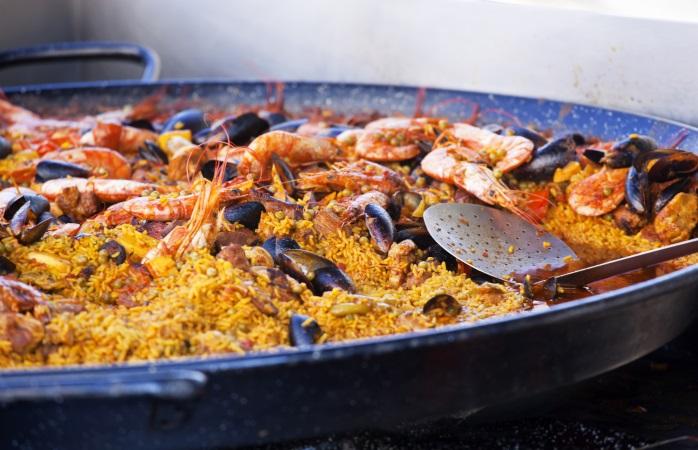 The classic Spanish paella.