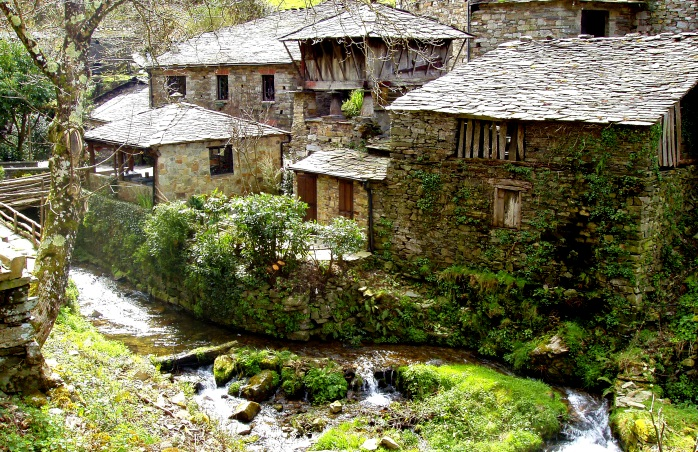 A traditional Asturian village.