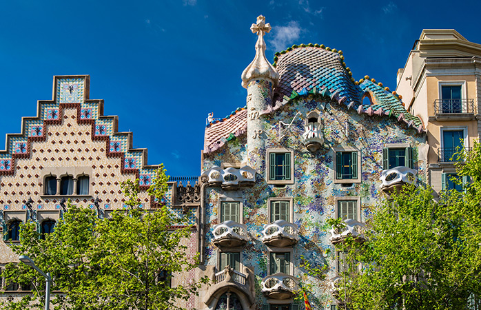 Two Barcelona landmarks for the price of none! See Cadafalch's Casa Amatller and Gaudí's Casa Battló on the free walking tour