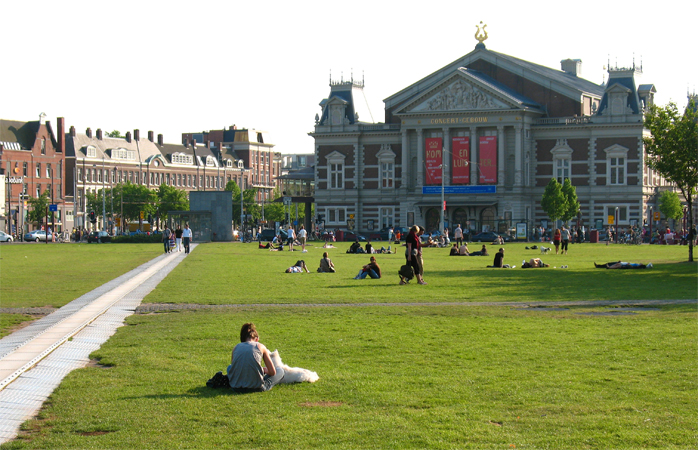 Outside the Concertgebouw.