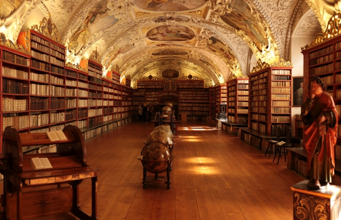 Inside the National Library of Prague.