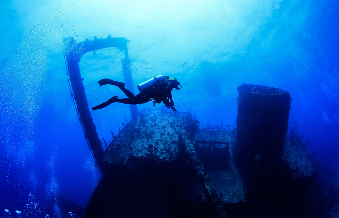 Wreck diving in Egypt.