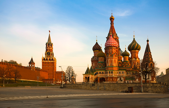 The cheapest time for a trip to Moscow