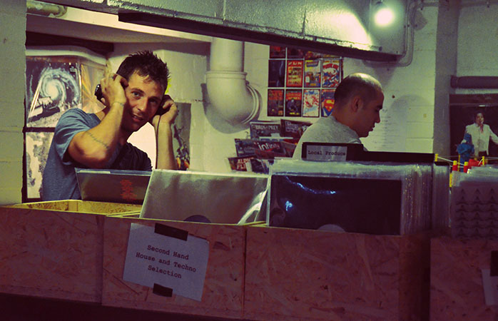Spinning decks at the Bussey Building, one of South London's best music venues.