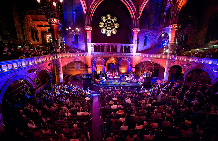 A night of entertainment at the Union Chapel, one of London's most beautiful live music venues.