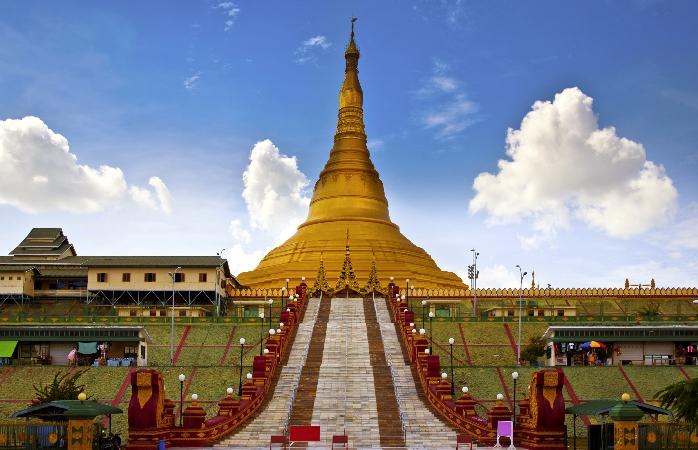 Myanmar's shiny Peace Pagoda.