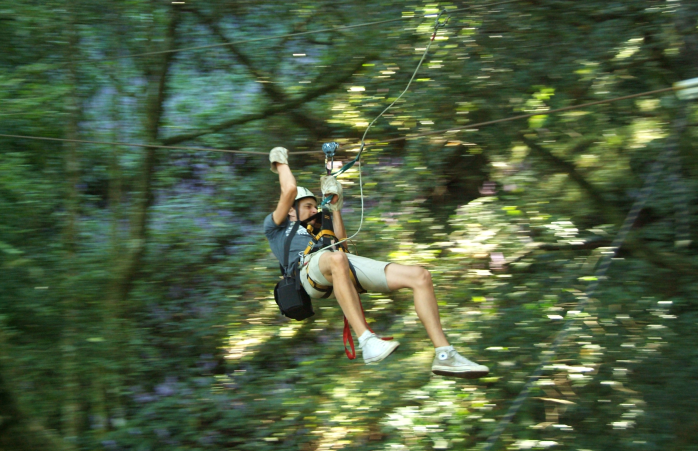 Ziplining in South Africa.