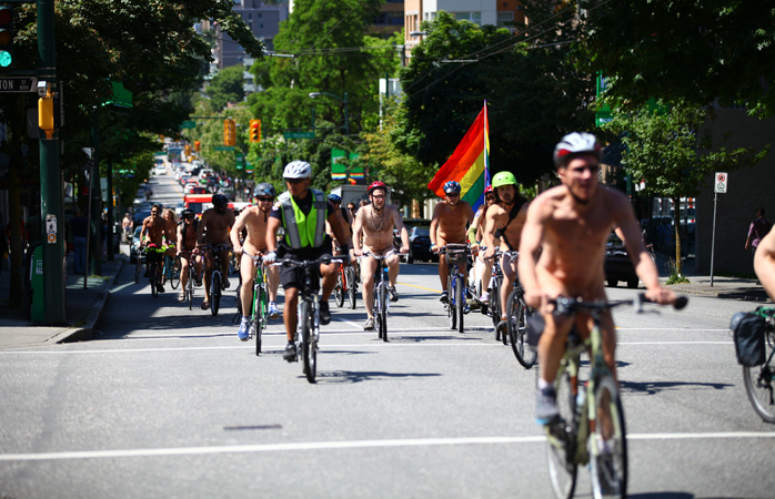 The World Naked Bike Ride.