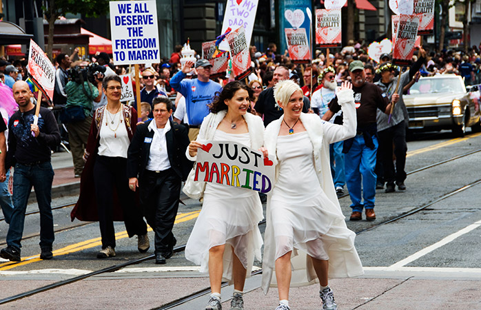 Joyous bedlam expected when san francisco gay marriages resume