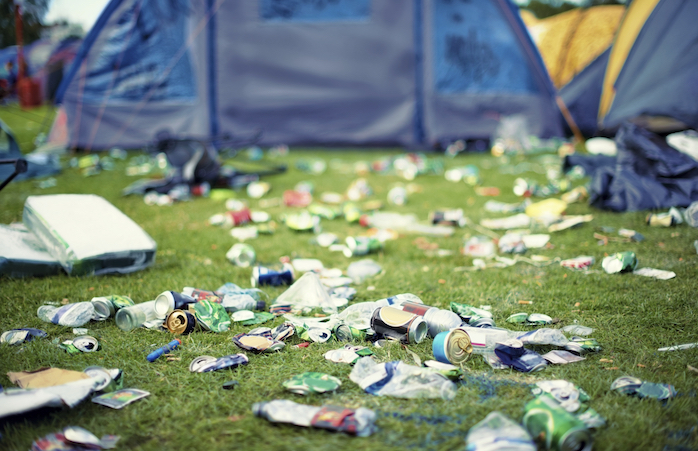 More festival essentials? Trash bags! Bring your own and clean up after you leave the campsite