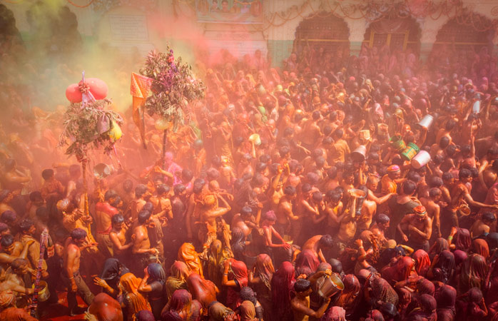 Colourful chaos during Holi