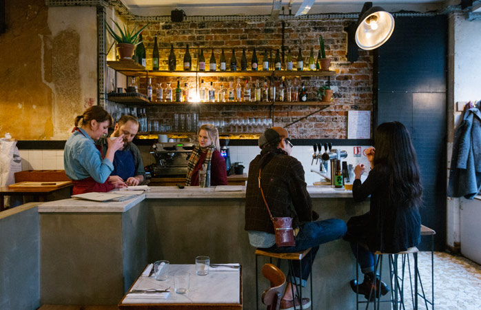 Jones' food is as beautiful as its industrial interior design