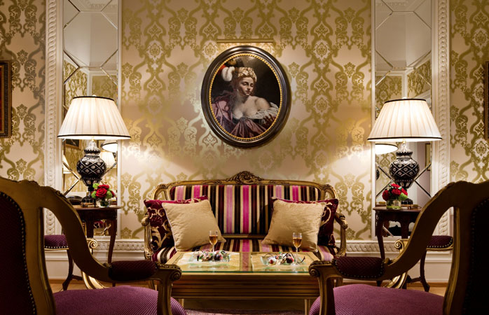 The Faberge Suite: an oasis of colour