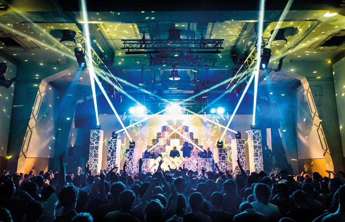 A techno night at Prague's famous Roxy club