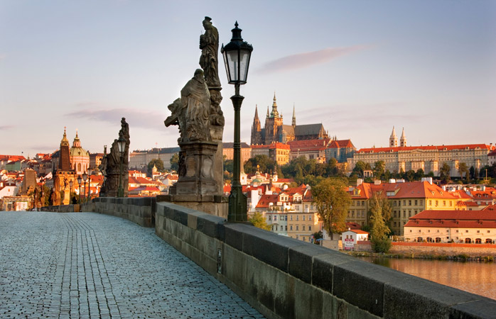 Take a guided walking tour and admire the view from The Charles Bridge