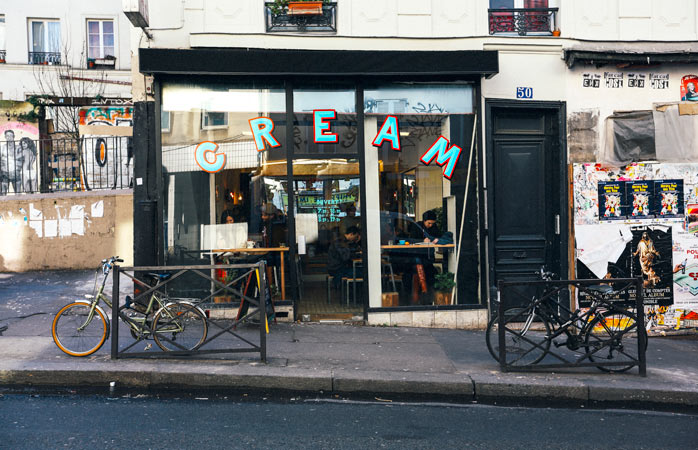 CREAM is a coffee-lover's dream on the Parisian hillside