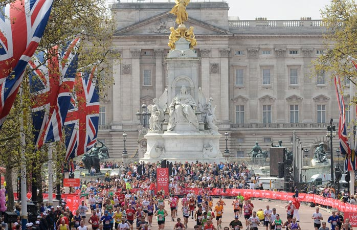 The Virgin Money London Marathon, one of the best marathons to sight-see and get sweaty