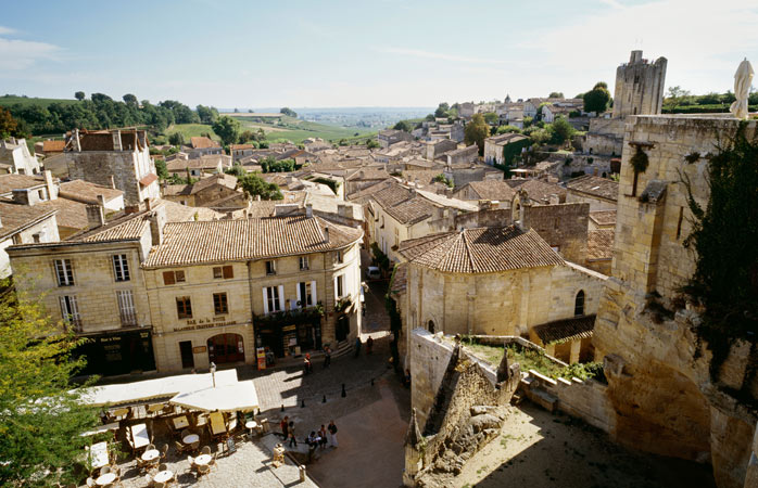 Visit Saint Emilion and get a view over the surrounding wine country