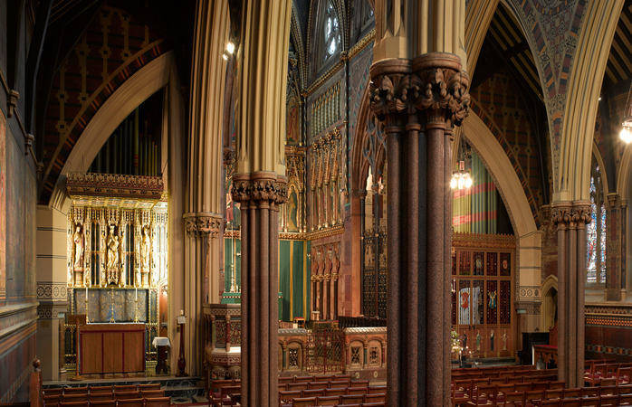 Escape the maddening crowds. Quietude awaits in the All Saints Church near the Oxford Street area