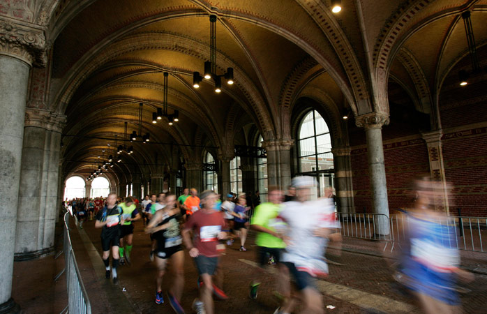 Run through the Dutch capital, under the Rijksmuseum