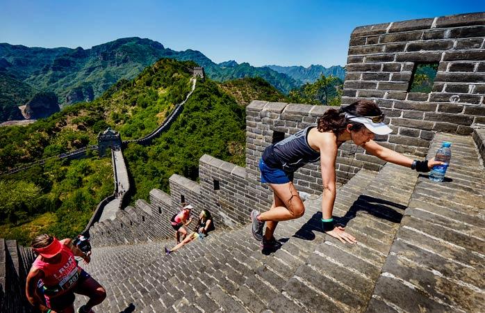 Hands down, the Great Wall Marathon tops the best marathons in the world © Albatros Adventure Marathons