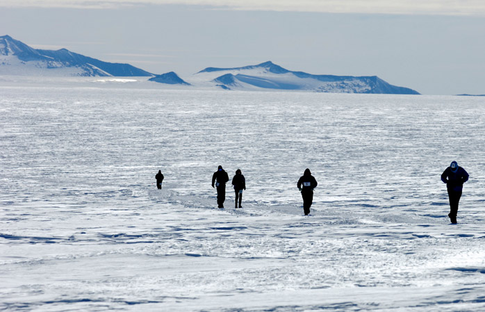 Nothing can compare to running in the freezing Antarctic Ice Marathon