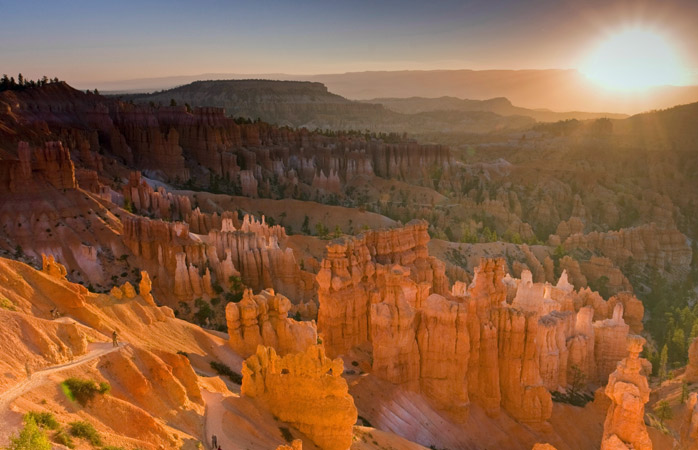 Capturing the first rays before an epic Bryce Canyon descent, perhaps?