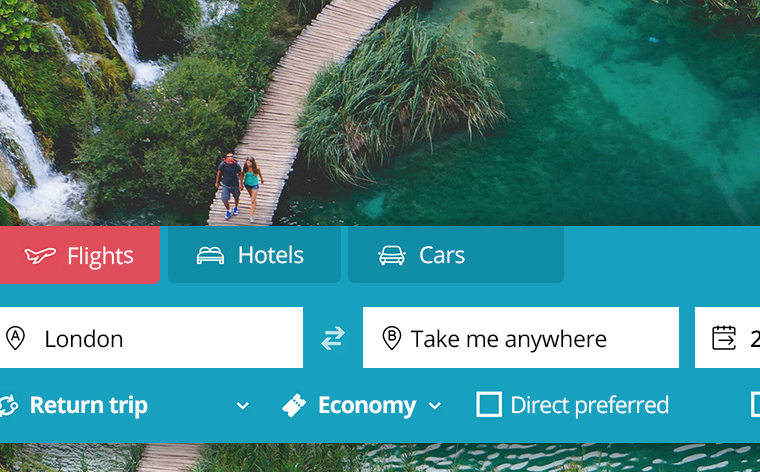 Don't know where to go on holiday? Try momondo's Anywhere Search