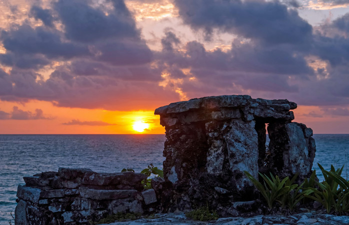 The City of Dawn greets the morning in Tulum