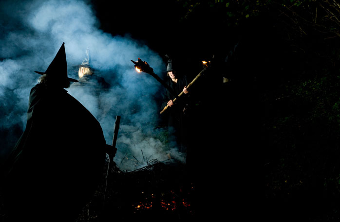Witches prepare for Samhain - the Pagan equivalent of Halloween