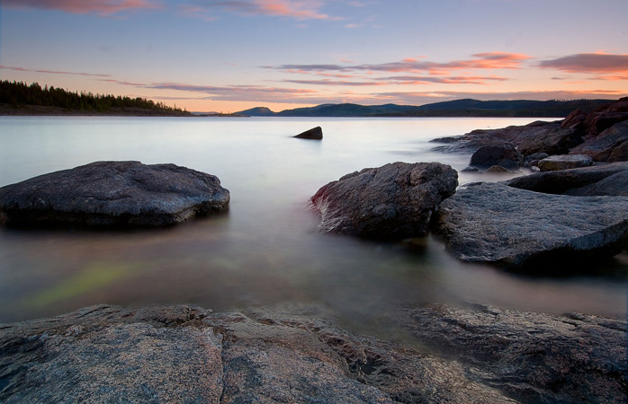 Sunset over Sweden's High Coast