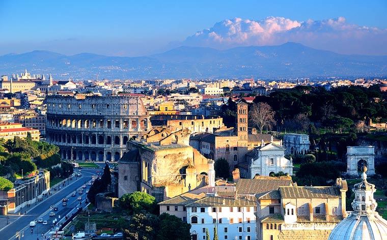Architectural diamonds in Rome