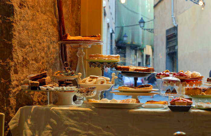 Snack on an array of heavenly treats at one of Barcelona's best cake shops, Caelum