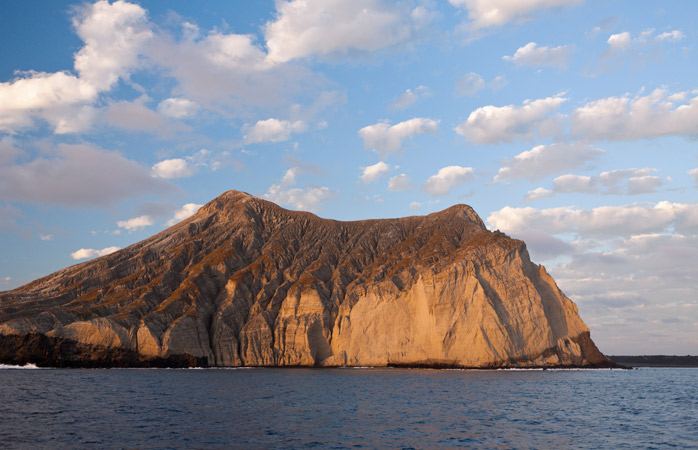 The volcanic island of San Benedicto is one of the four islands forming the Archipiélago de Revillagigedo
