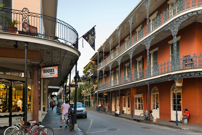 The French Quarter is an ideal location for your Halloween accommodation in New Orleans