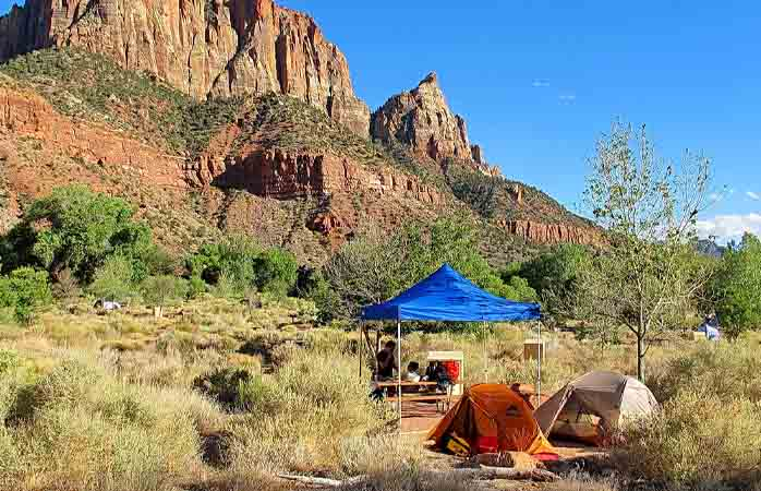 Camping in Zion National Park. A vacation to remember