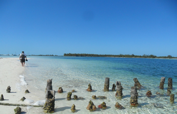 Playa Sirenas, one of a handful of pristine beaches at Cayo Largo