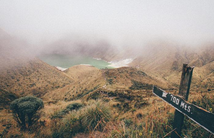 Hiking will lead you to hidden treasures like Laguna Verde, Colombia